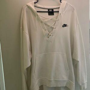 Nike Other - lace up Nike sweatshirt